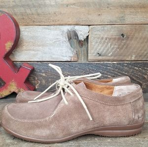 BOC Brown Suede Leather Lace Up Shoes Size 8.5